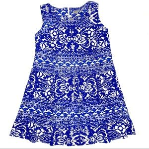 Danny and Nicole Size 20W Blue & White Sleeveless